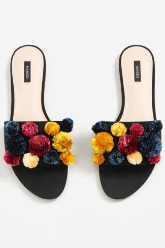 mango-pompom-sandals